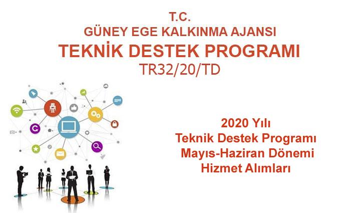 2020 Yılı Teknik Destek Programı  3. Dönem (Mayıs-Haziran) Hizmet Alımları