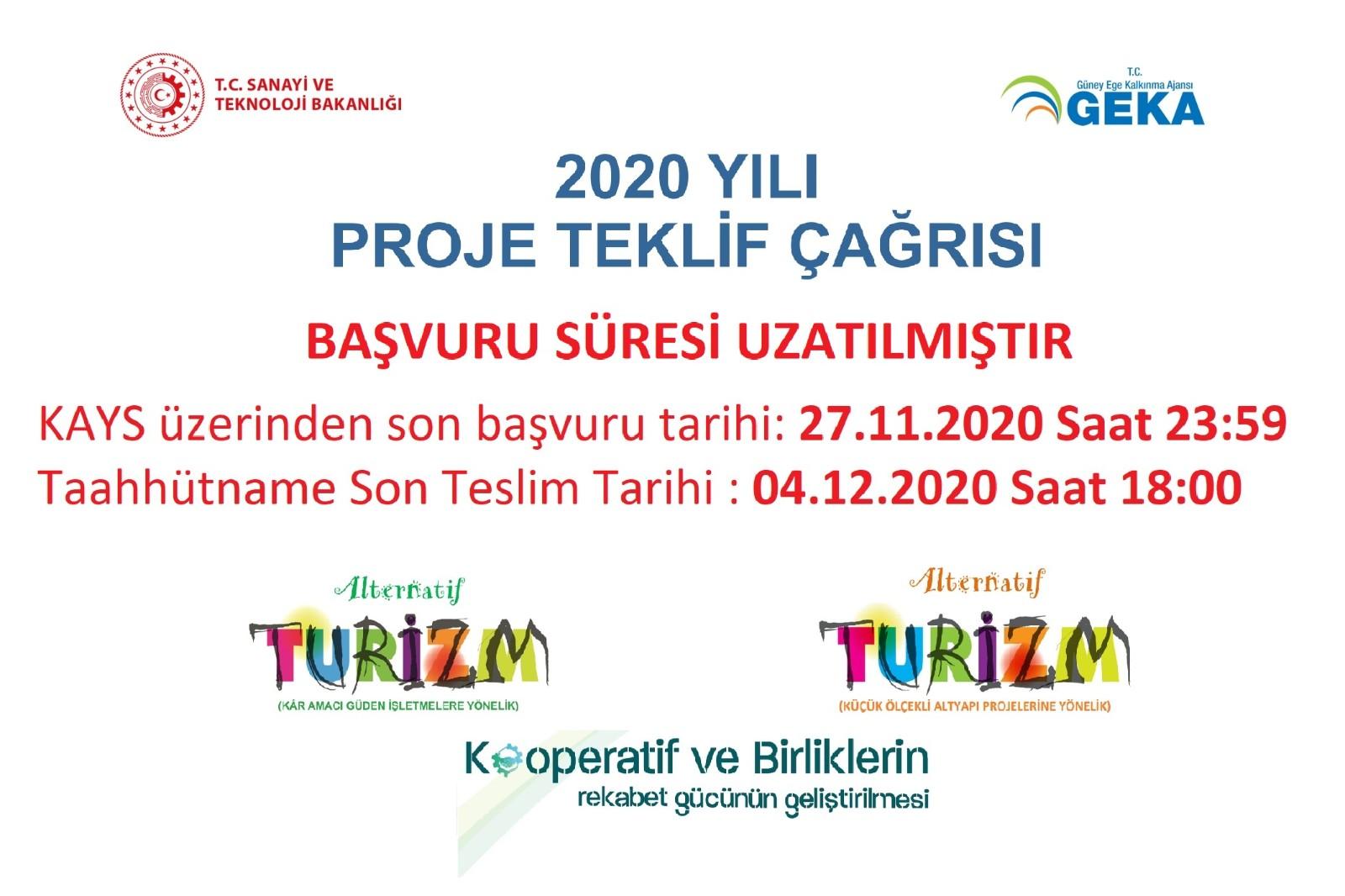 2020 Yılı Proje Teklif Çağrısı Başvuru Süresi Uzatılmıştır