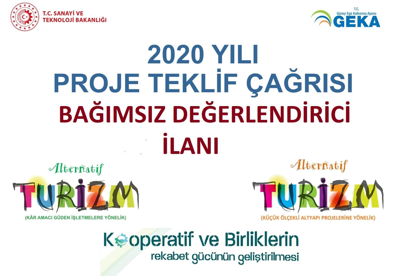 2020 Yılı Proje Teklif Çağrısı Bağımsız Değerlendirici İlanı